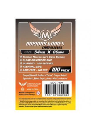 Fundas Mayday Yucatan Narrow Card Game Sleeves (54 X 80 MM)