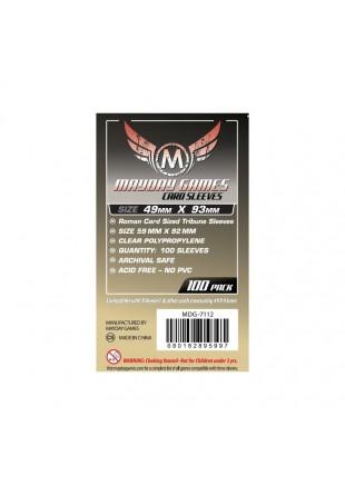Fundas Mayday Roman Card Sized Tribune Sleeves (100 pack) 49 X 93 MM