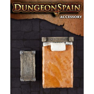 Dungeon Spain: Pack accesorios 2 - Cama y arcón