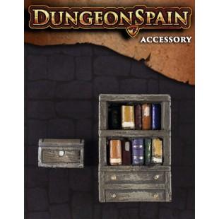 Dungeon Spain: Pack accesorios 3 - Librería y baúl