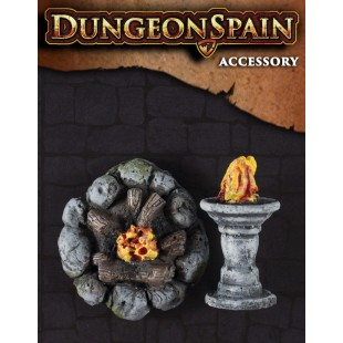 Dungeon Spain: Pack accesorios 7 -  Hoguera y pebetero
