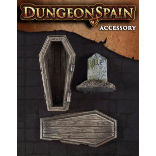 Dungeon Spain: Pack accesorios 8 - Ataúd y lápida