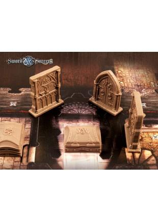Sword & Sorcery: Pack de puertas y cofres