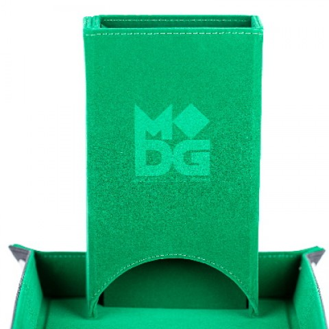 Torre de dados de terciopelo plegable (verde)