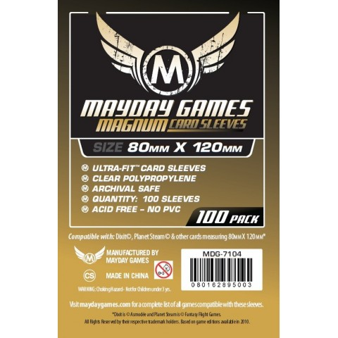 "Fundas Mayday Magnum Gold Ultra-Fit: (80 mm x 120 mm) ""Dixit"""