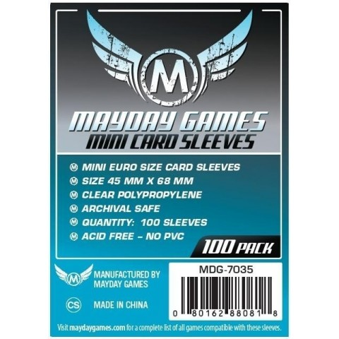 Fundas Mayday Mini Eurogame (45 mm x 68 mm)