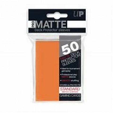 Fundas Ultra Pro Solid Mate Orange (66x91 mm) 50 Ud.