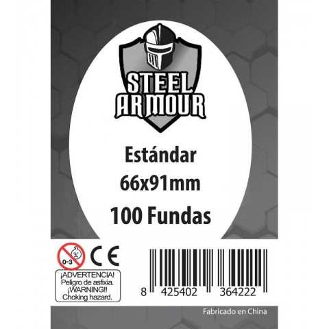 Fundas Steel Armour (63,5x88mm) Estándar (100) - Exterior 66x91mm