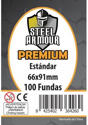 Fundas Steel Armour (64x89mm) Estándar PREMIUM (100) - Exterior 66x91mm