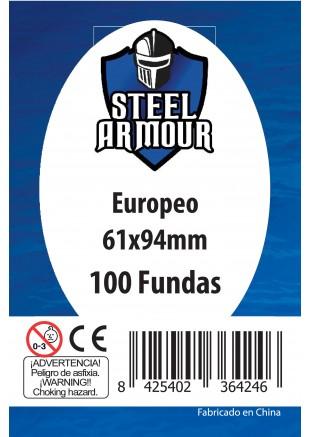 Fundas Steel Armour (59x92mm) Europeo (100) - Exterior 61x94mm