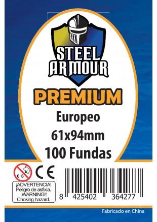 Fundas Steel Armour (59x92mm) Europeo PREMIUM (100) - Exterior 61x94mm