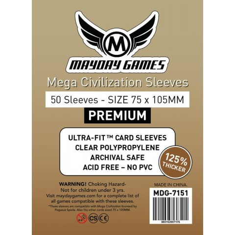 Fundas Mayday Mega Civilization PREMIUM (75 mm x 105 mm)