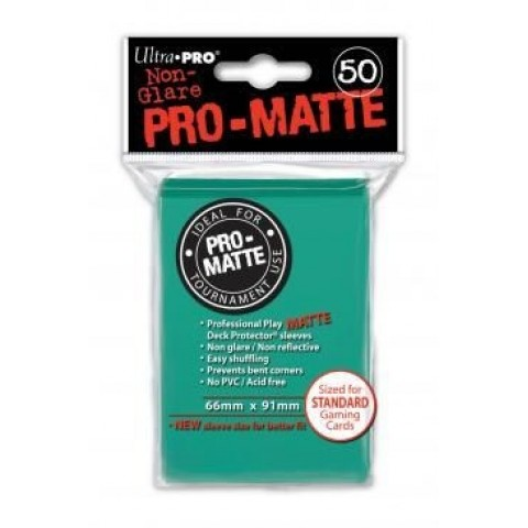 Fundas Ultra Pro Solid Mate Aqua (66x91 mm) 50 Ud.