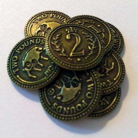 Scythe: monedas $2 (x15)