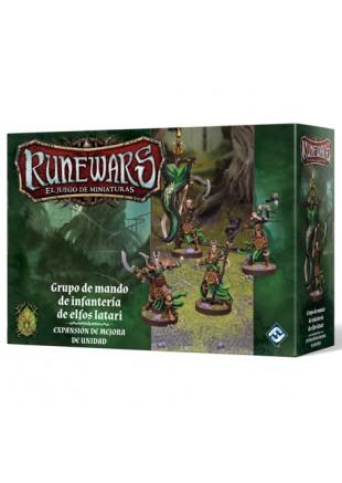RuneWars: Grupo de mando de infantería de elfos latari