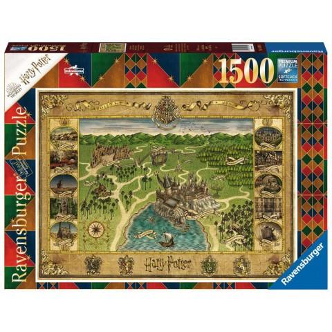 PUZZLE Harry Potter Mapa de Hogwarts (1500 pz)