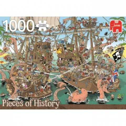 PUZZLE Piezas de Historia- Piratas (1000 pz)